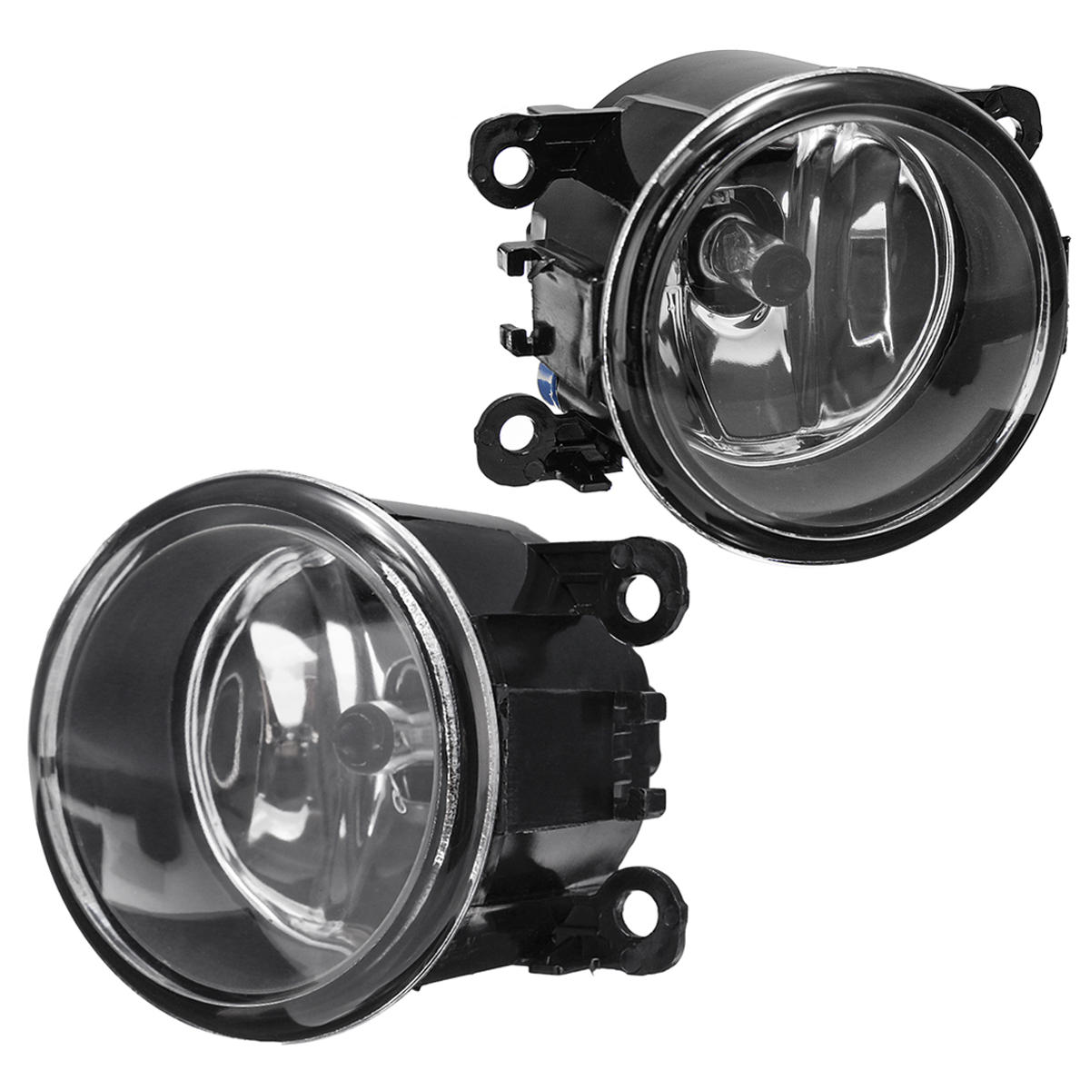 Pair Car Front Bumper Fog Lights With Covers Lamps Wiring