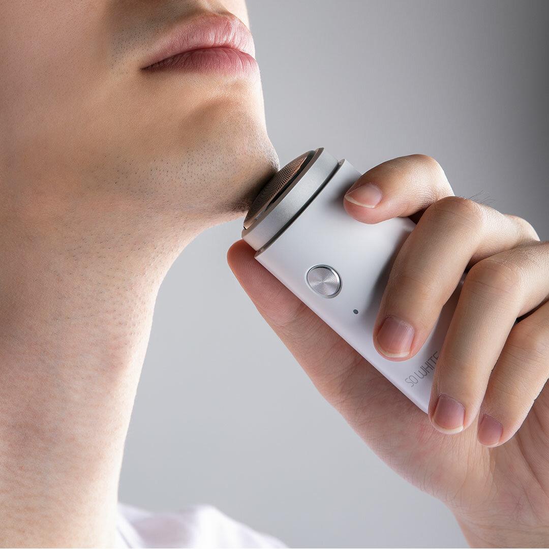 Soocas SO WHITE ED1 ماكينة حلاقة كهربائية صغيرة محمولة للرجال ضد للماء USB شحن الاستخدام الرطب والجاف من Ecosystem