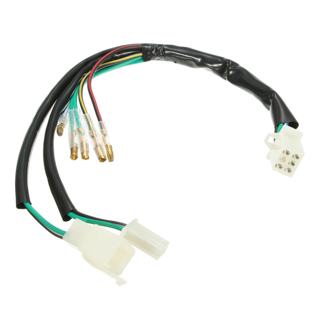 Electric Wiring Harness Loom For 50cc 90cc 110cc 125cc 140cc Pit Dirt on chinese atv fuel tank, chinese atv fuel line, 50cc atv wiring harness, chinese atv fuel pump, tao tao atv wiring harness, chinese gy6 150cc engine, chinese atv intake manifold, chinese go kart ignition switch for, chinese atv voltage regulator, chinese atv oil cooler, chinese atv replacement parts, chinese atv engine diagram, chinese atv tail light, chinese four wheeler body parts, chinese dirt bike parts, chinese cdi wiring, chinese atv instrument cluster, chinese 200 atv wiring diagrams, chinese atv fenders,