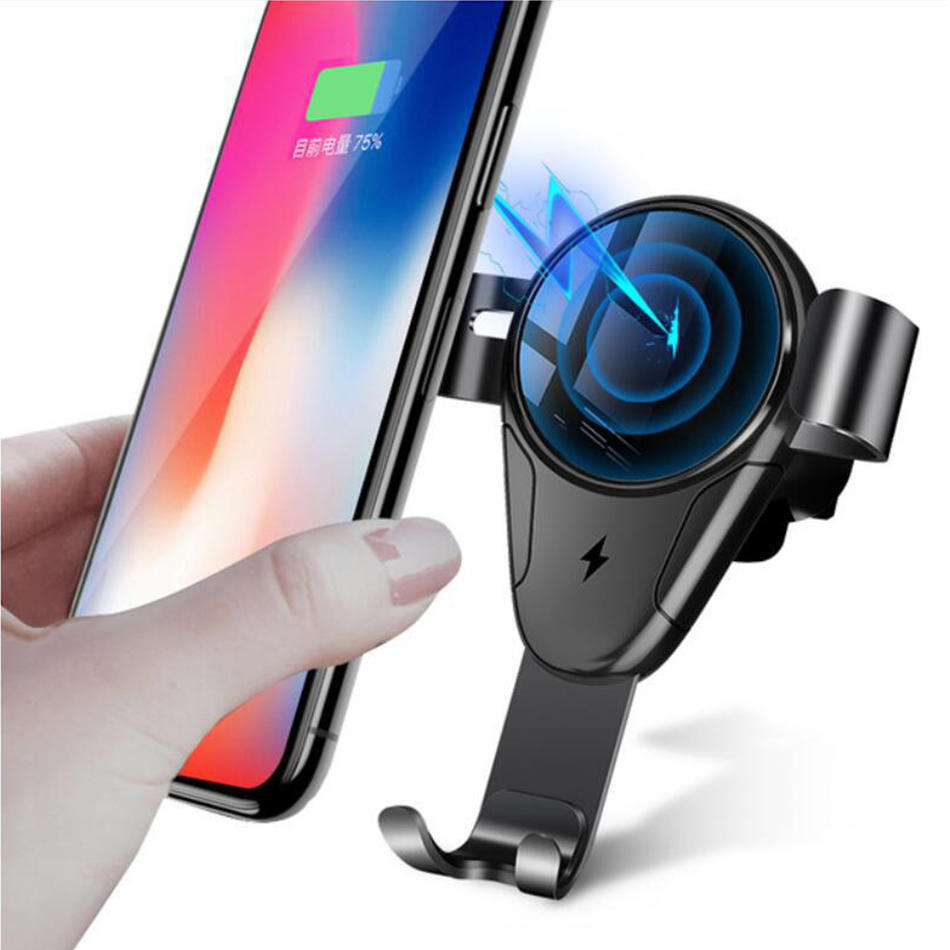 Bakeey 5W 10W Qi Auto Fast Charging Wireless Car Charger Holder For iPhone X XR XS Max Mi8 Mi9 HUAWEI P20
