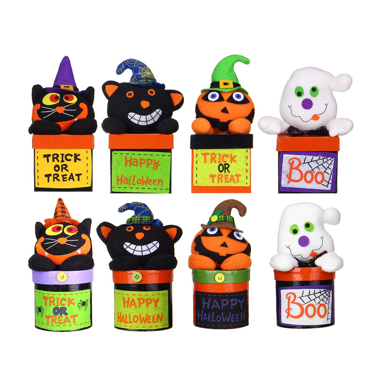 Halloween Doll Candy Box Pumpkin Ghost Sugar Cookie Case Child Kids Sweet Gift