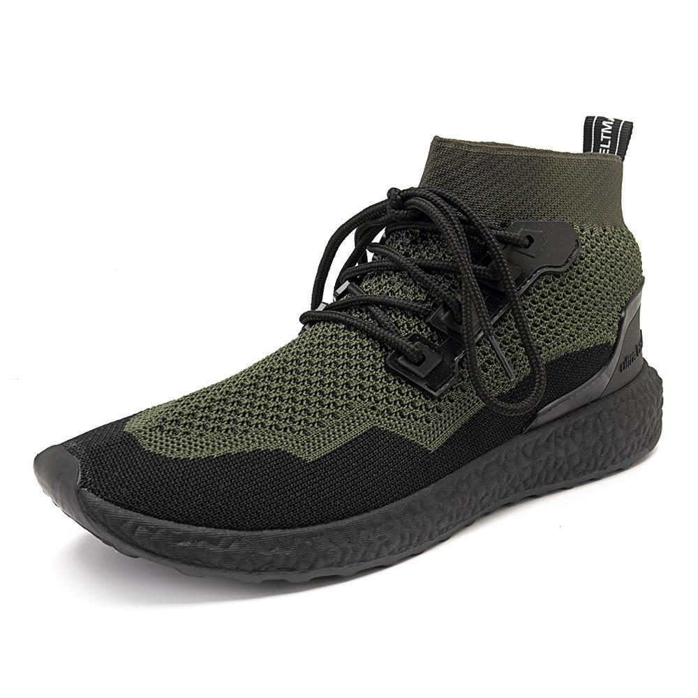 पुरुषों सांस मेष उच्च शीर्ष स्नीकर्स आरामदायक खेल के जूते