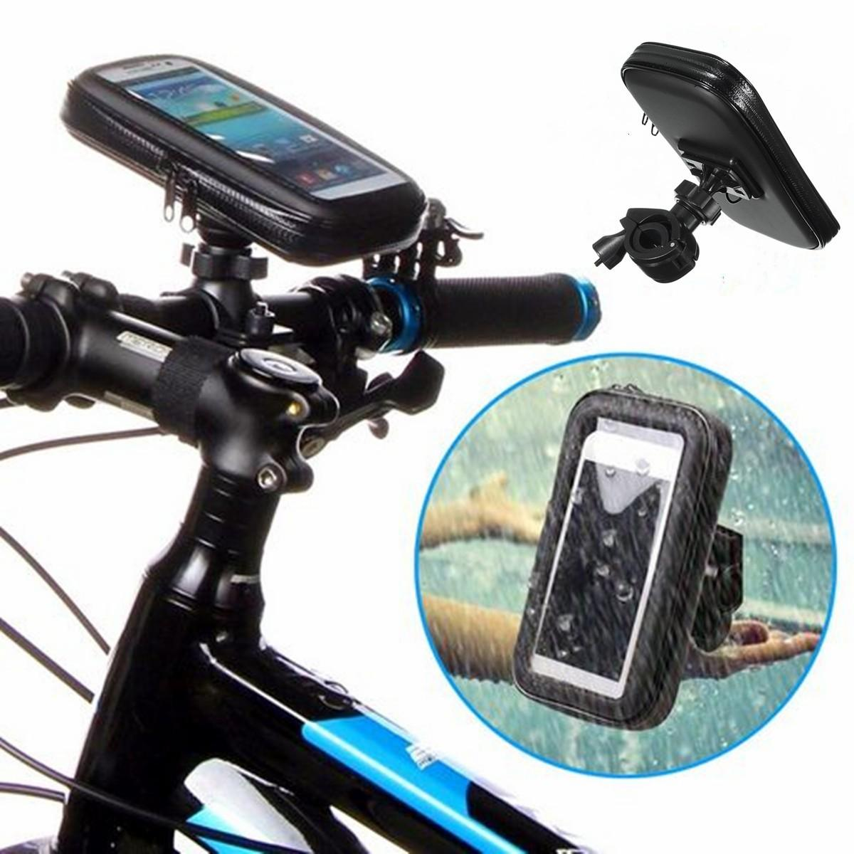 Bicycle Phone Mount >> Universal Waterproof Motor Bike Motorcycle Case Bike Bag Phone Mount Holder For Iphone Samsung Gps