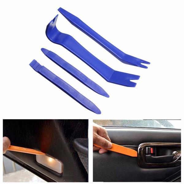 4Pcs Car Removal Tools Auto Door Clip Panel Radio Trim Dash Audio Installer Pry