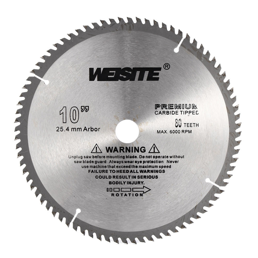 10 Inch 80T Circular Saw Blade 250mm Carbide Alloy Accurate Wood Cutting  Disc