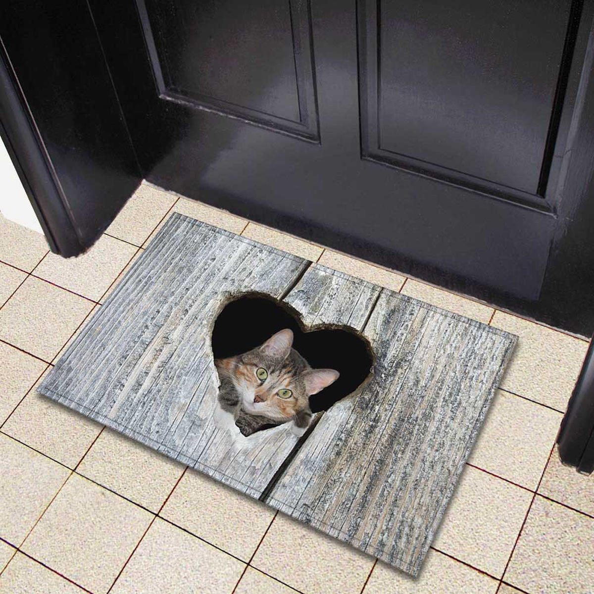 Mata drzwi Cartoon Cute Kot Dywaniki kuchenne Sypialnie Dywany Salon Mata podłogowa