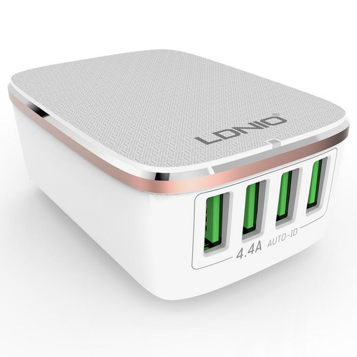 LDNIO 4 USB Ports 4 4A Fast Charger EU Plugs Charger For iphone 8 8 Plus  iphone X Xiaomi Samsung
