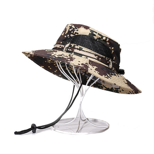 c44d24f6cf437b Men's Summer Breathable Fisherman Hat Foldable Outdoor Military Camouflage  Bucket Hat - #05 COD
