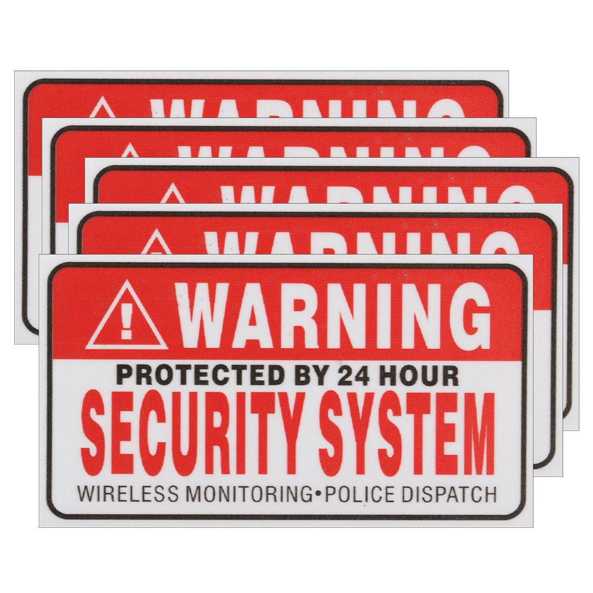 5 Cái Camera tự sướng cực mạnh Camera CCTV Dấu hiệu an toàn Decal Được bảo vệ bởi hệ thống an ninh 24 giờ