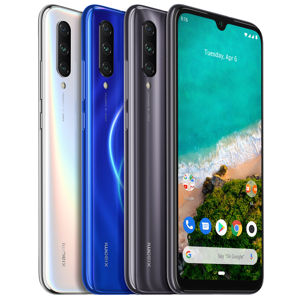 Xiaomi Mi A3 GLOBAL con 4GB di RAM e 128GB di ROM - Blue