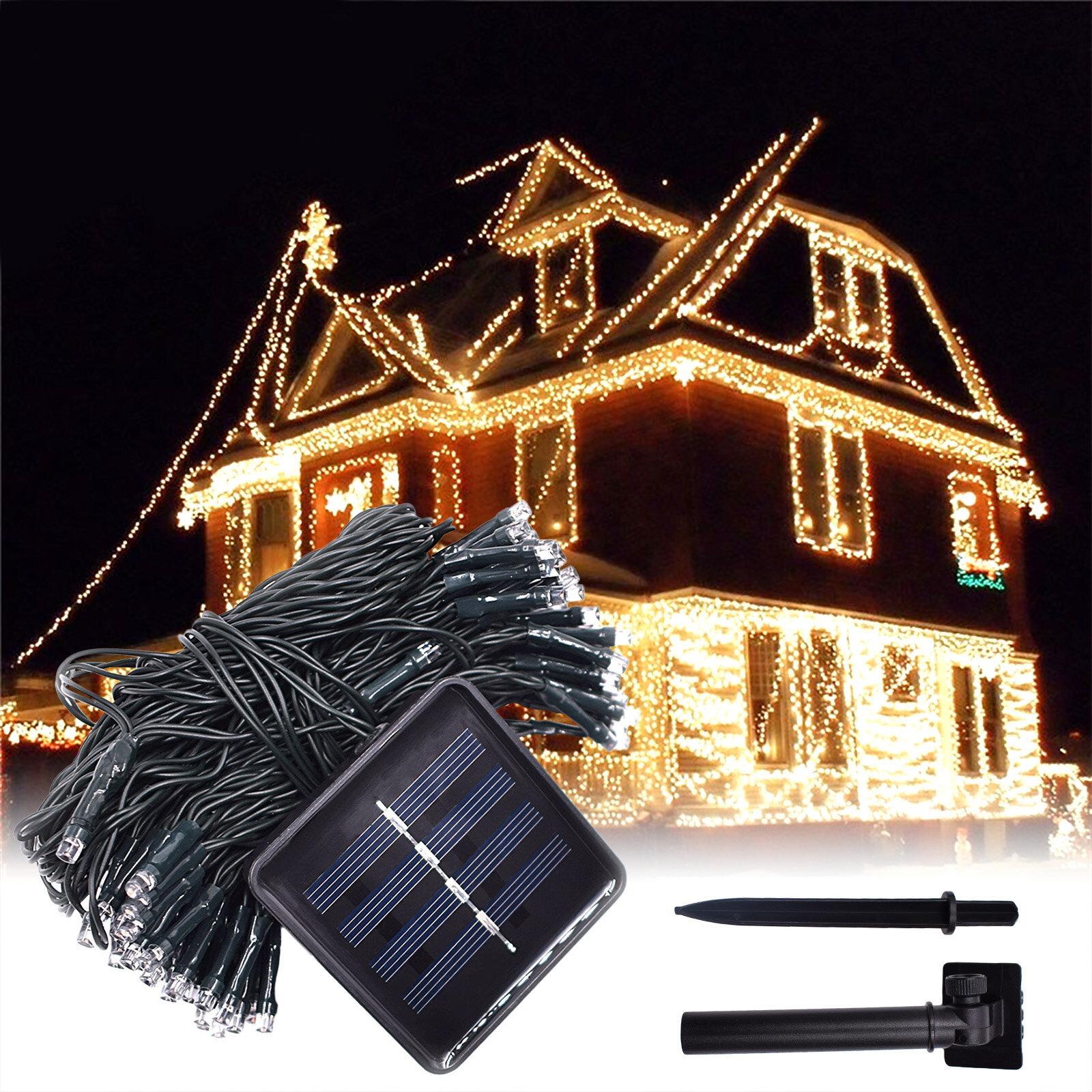 Lampki świąteczne z panelem solarnym 12M 100LED za $7.49 / ~29zł