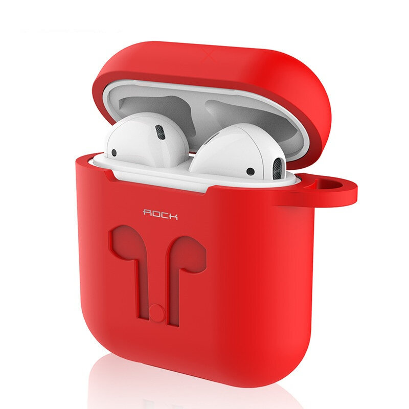 Batu Pelindung Silicone Carrying Case Shockproof Storage Cover untuk AirPods Apple Bluetooth Earphone