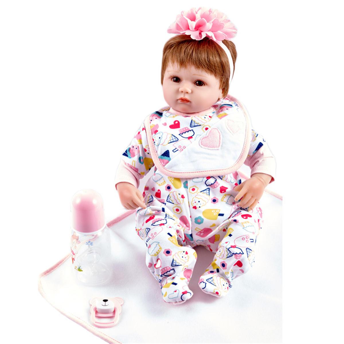 Muñeca recién nacida hecha a mano de niña recién nacida hecha a mano Silicona Vinilo Muñeca bebé de regalo