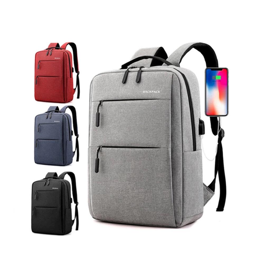 40L Enlarge Backpack USB External Charge Laptop Backpack Shoulders Men Women Fashion Waterproof Travel Backpack School B