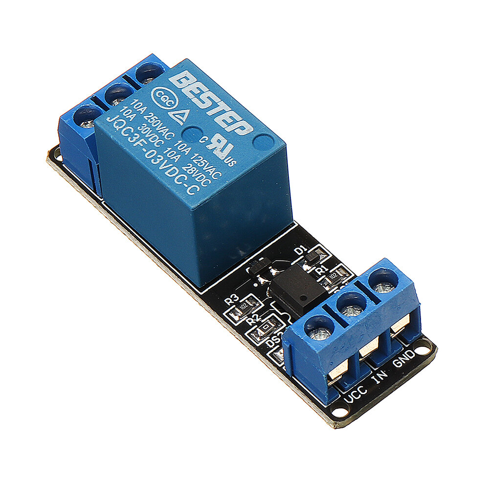 BESTEP 1 Channel 3 3V Low Level Trigger Relay Module Optocoupler Isolation  Terminal For Arduino