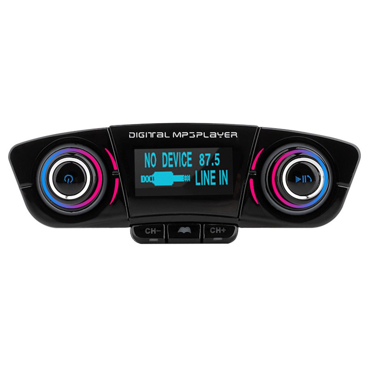 Wireless bluetooth Handsfree Voice Navigation Car Kit FM Transmitter MP3 Player USB Charger AUX