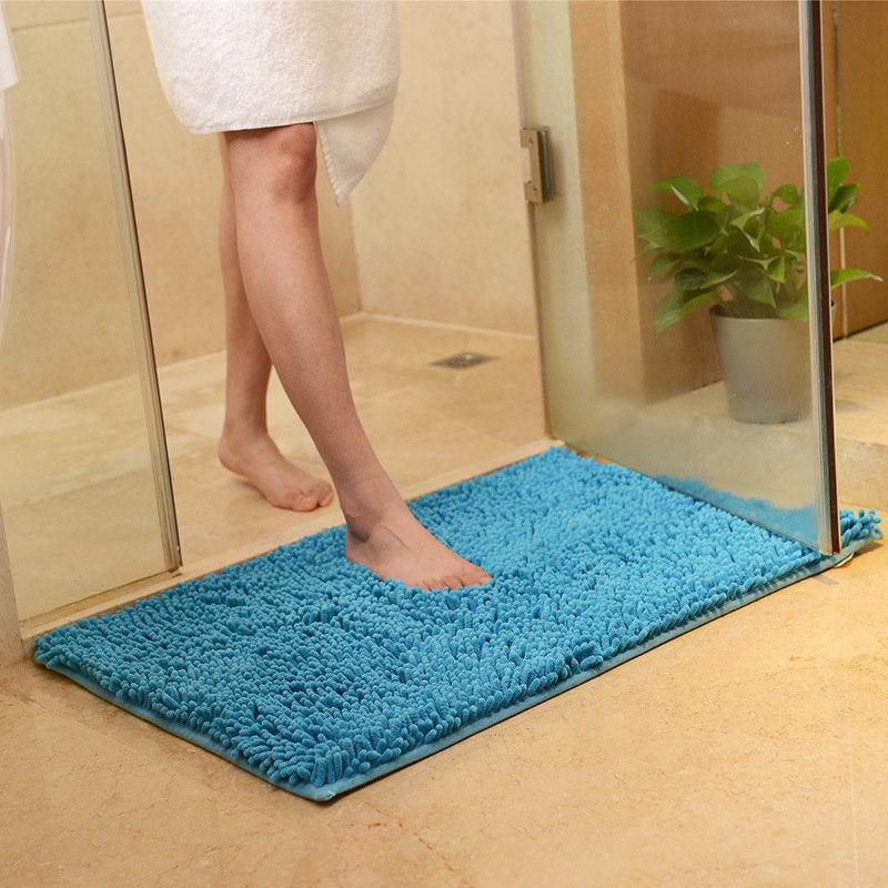 Honana WX-329 50x80cm Chenille Soft Mat Machine Washable Bathroom Anti Slip Absorbent Carpet Doormat Rug