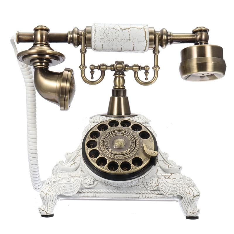 Vintage Telephone Swivel Plate Rotary Dial Antique Telephones Landline Phone For Office Home Hotel