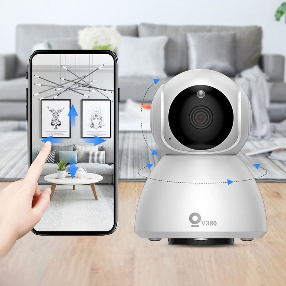 Xiaovv Q8 HD 1080P 360° Panoramic IP Camera Onvif Support Infrared Night Vision AI Mo-tion Detection Machine Panoramic Camera