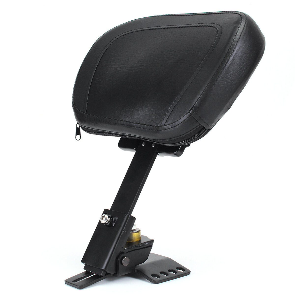 Motorcycle Driver Rider Leather Seat Cushion Backrest Custom Black For Harley Davidso 1988-2016
