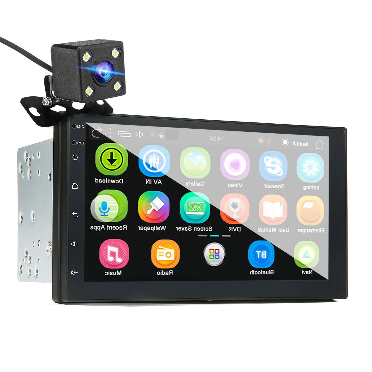 iMars 7 Inch 2 Din Android 8.0 Car Stereo Radio MP5 Player 2.5D Screen GPS WIFI bluetooth FM with Backup Camera
