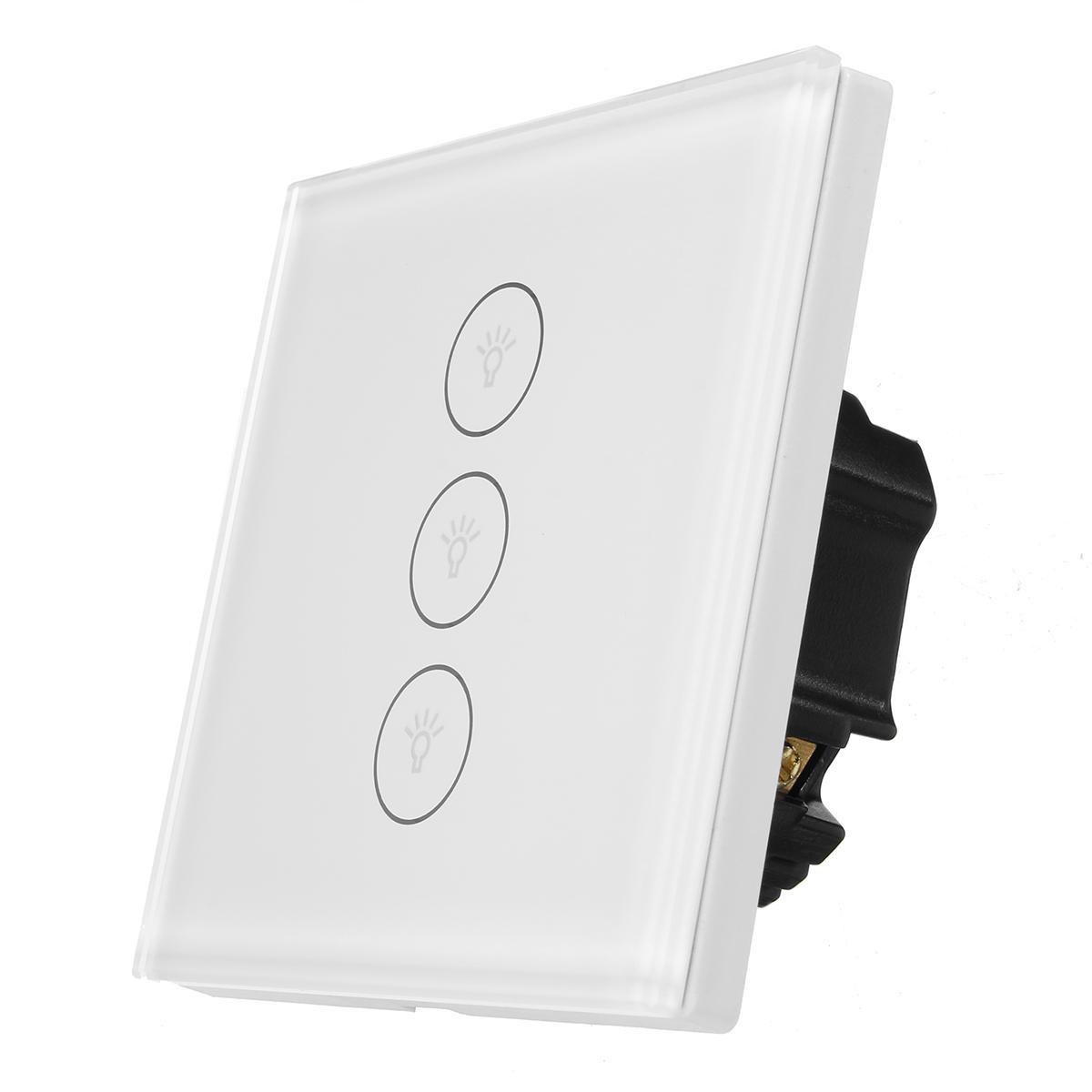 Zigbee WIFI Interruptor da UE de Parede Inteligente Painel Touch Controle APP com Alexa/Google Home