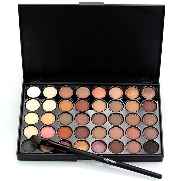 40 Cores Mini Paleta Sombras de Olhos Kit Conjunto Maquiagem Olhos Portátil Cosméticos Glitter Shimmer