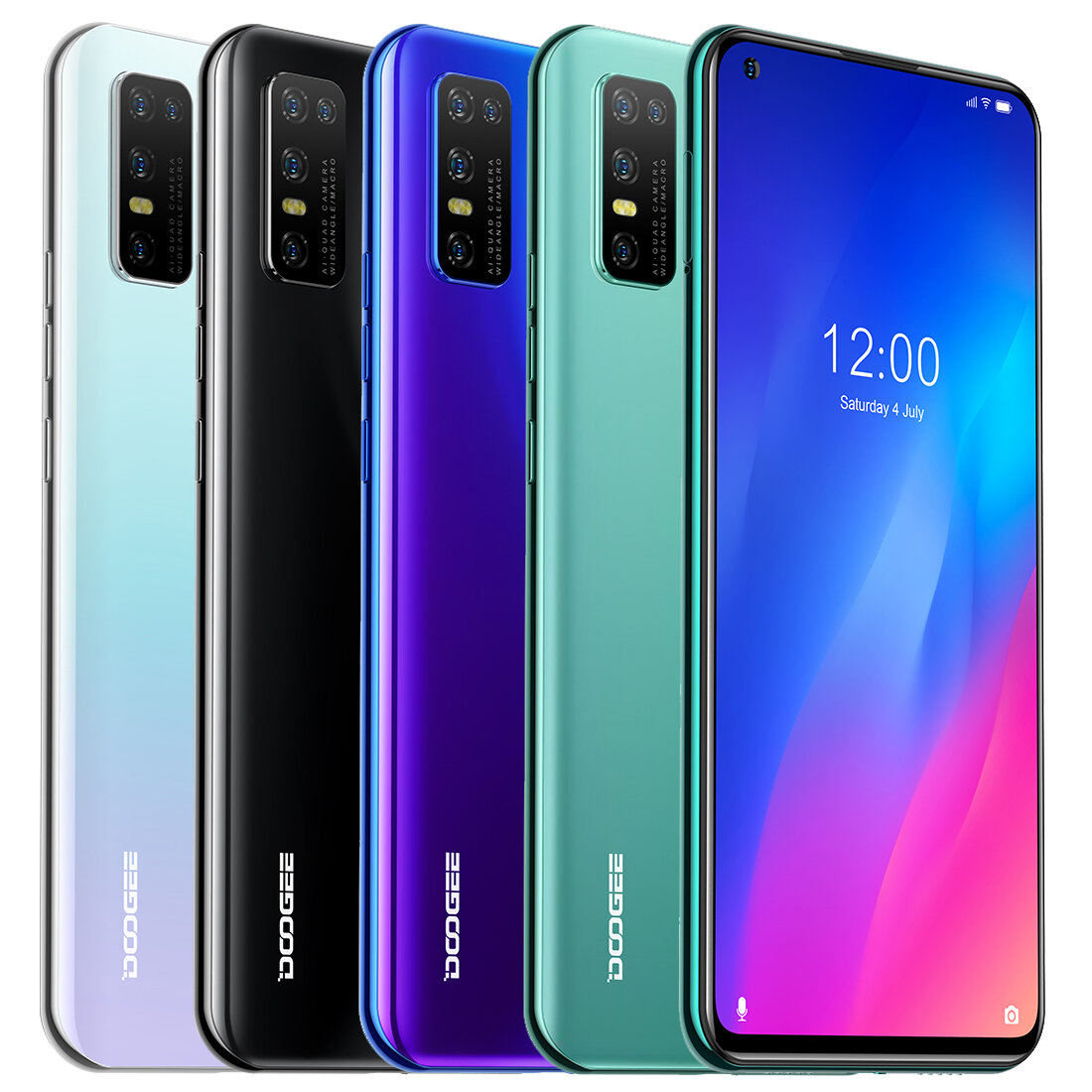 DOOGEE N30 Global Bands 4GB 128GB Helio A25 Android 10 6.55 inch Perforated Screen 4180mAh 16MP AI Quad Rear Camera 4G S