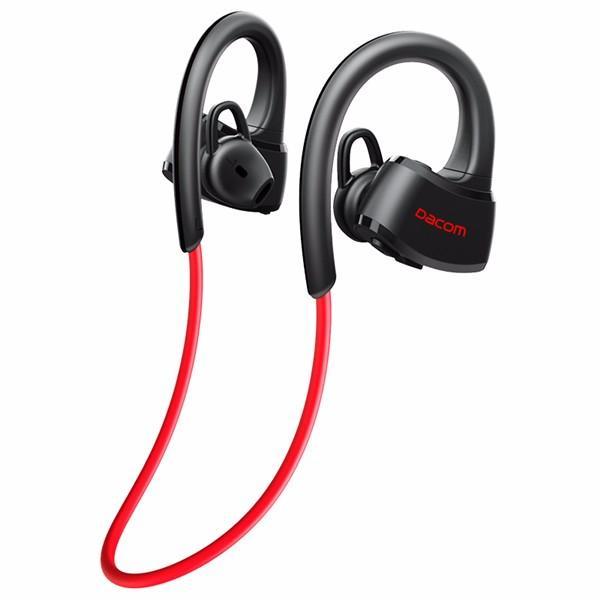 82d4274712e2d4 Dacom P10 Sport Swim IPX7 Waterproof Ear Hook Wireless bluetooth Headphone  Earphone - Black+Blue COD
