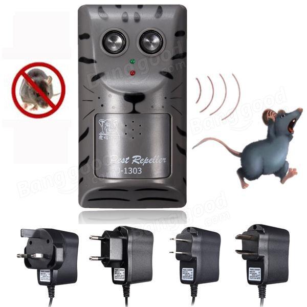 Elektronisk Ultraljud Skadedjur Rat Insekt Rodent Control Repeller Anti Mole Killer Trap Bug Chaser