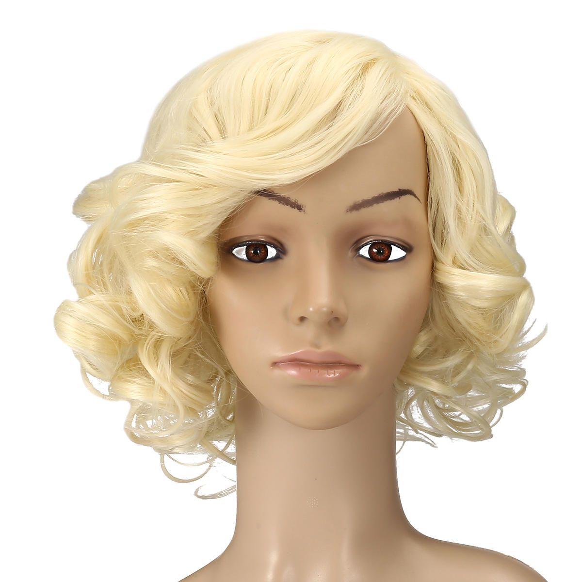 Blonde High Temperature Silk Short Curly Hair Wig