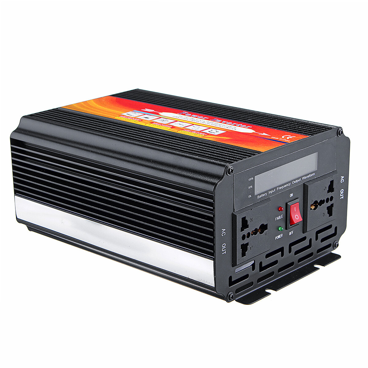 5000W Smart Solar Power Inverter DC 12V / 24V till AC 220V / 110V Converter Intelligent LCD-skärm