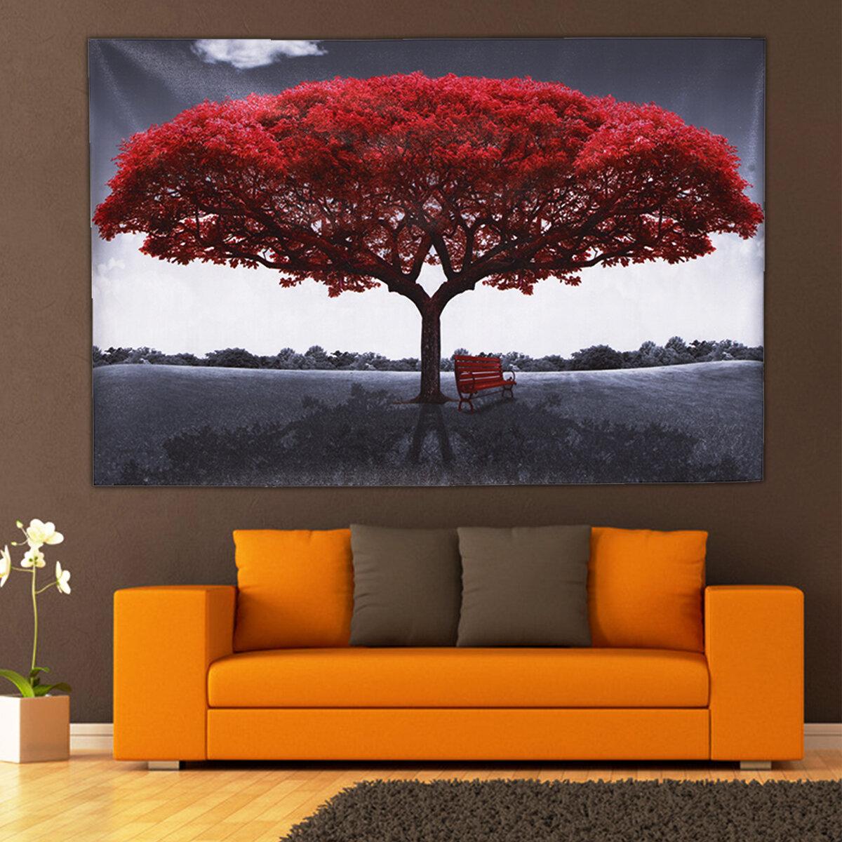 Granárbolrojodelalona decoración de la pared del hogar moderno Pinturas de arte Imagen Imprimir sin marco Decoracio