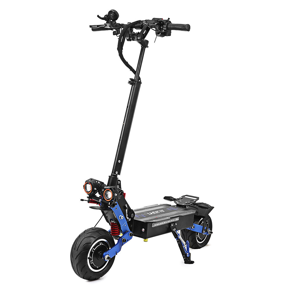 LAOTIE ES19 Steering Damper 60V 38.4Ah Battery 6000W Dual Motor Electric Scooter 100Km/h Top Speed 135Km Mileage 10x4.5inch Wide Wheel Electric Scooter