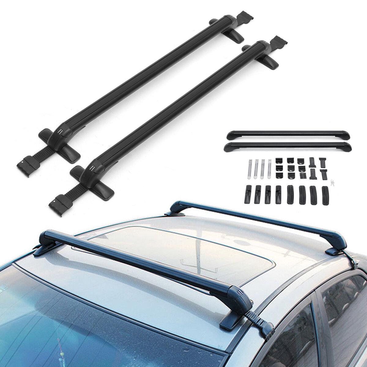 Pair 105cm Roof Cargo Rack Cross Bars Luggage Carrier Holder Anti-theft Car SUV