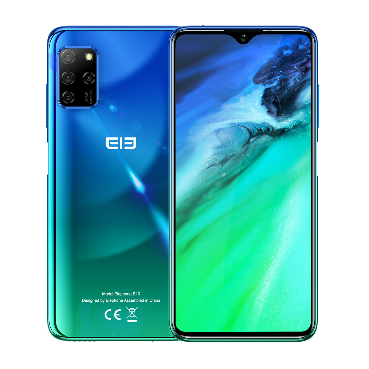 ELEPHONE E10 Global Version 6.5 inch NFC Android 10 4000mAh 48MP Quad Rear Cameras 4GB 64GB MT6762D 4G Smartphone