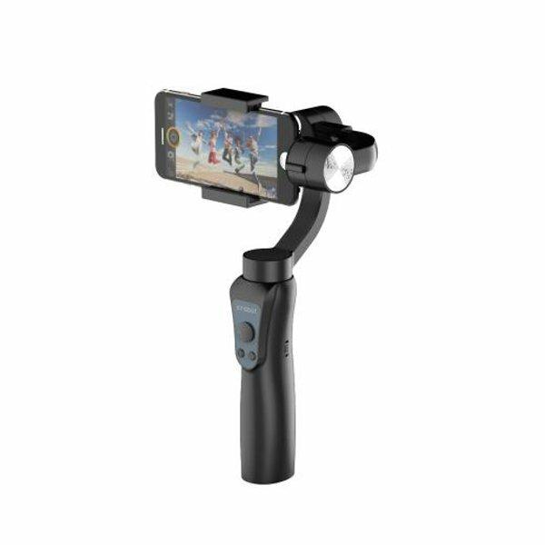 Jcrobot S5 3-Axis Handheld bluetooth Gimbal Stabilizer For Smartphones & GoPro Hero Action Camera - Black