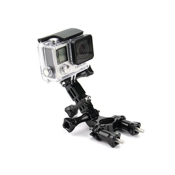 Bike Motorcycle Holder Handlebar Mount Adjustment Arm for Gopro Hero 3 4 Xiaomi Yi 4k II Accessories