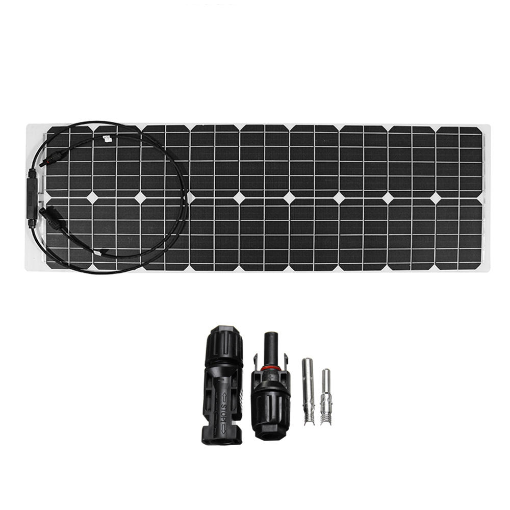 50W 18V Solar Power Panel Monocrystalline Silicon Semi-flexible Home Electricity