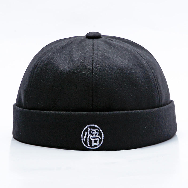 Men Women Curling Retro Trend Parent-child Cap Hip-pop Solid Color Street Hat