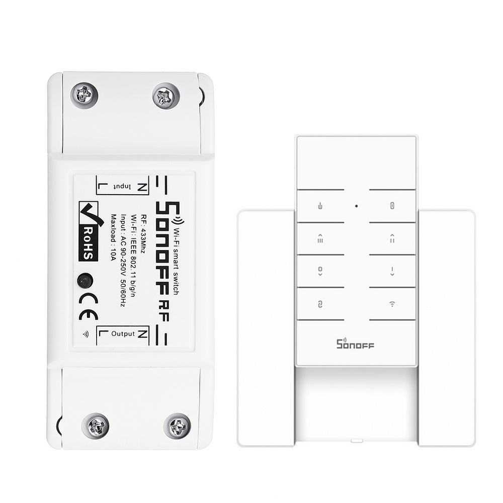 SONOFF® RF 7A 1500W AC90-250V DIY WIFI Wireless Switch Socket Module With  RM433 Remote Control And Base For Smart Home APP Remote Control Or 433MHZ
