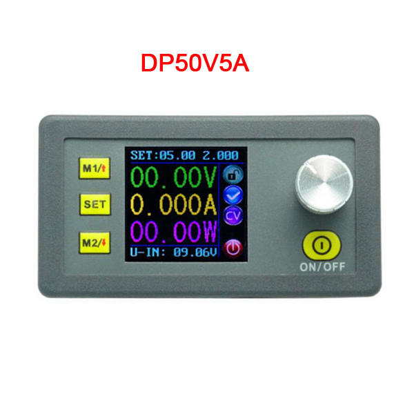 RIDEN® DP50V5A Buck Adjustable DC Power Supply Module With Integrated Voltmeter Ammeter Color Display