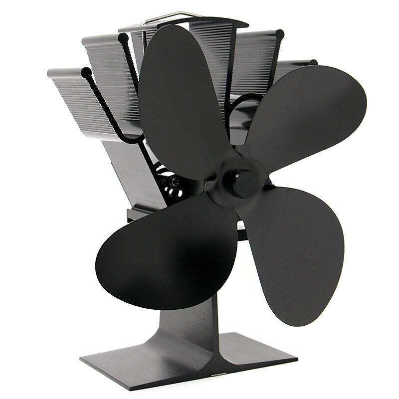 IPRee® 4 Лопасти Вентилятор для камина Тепловая мощность Вентилятор для дровяной печи