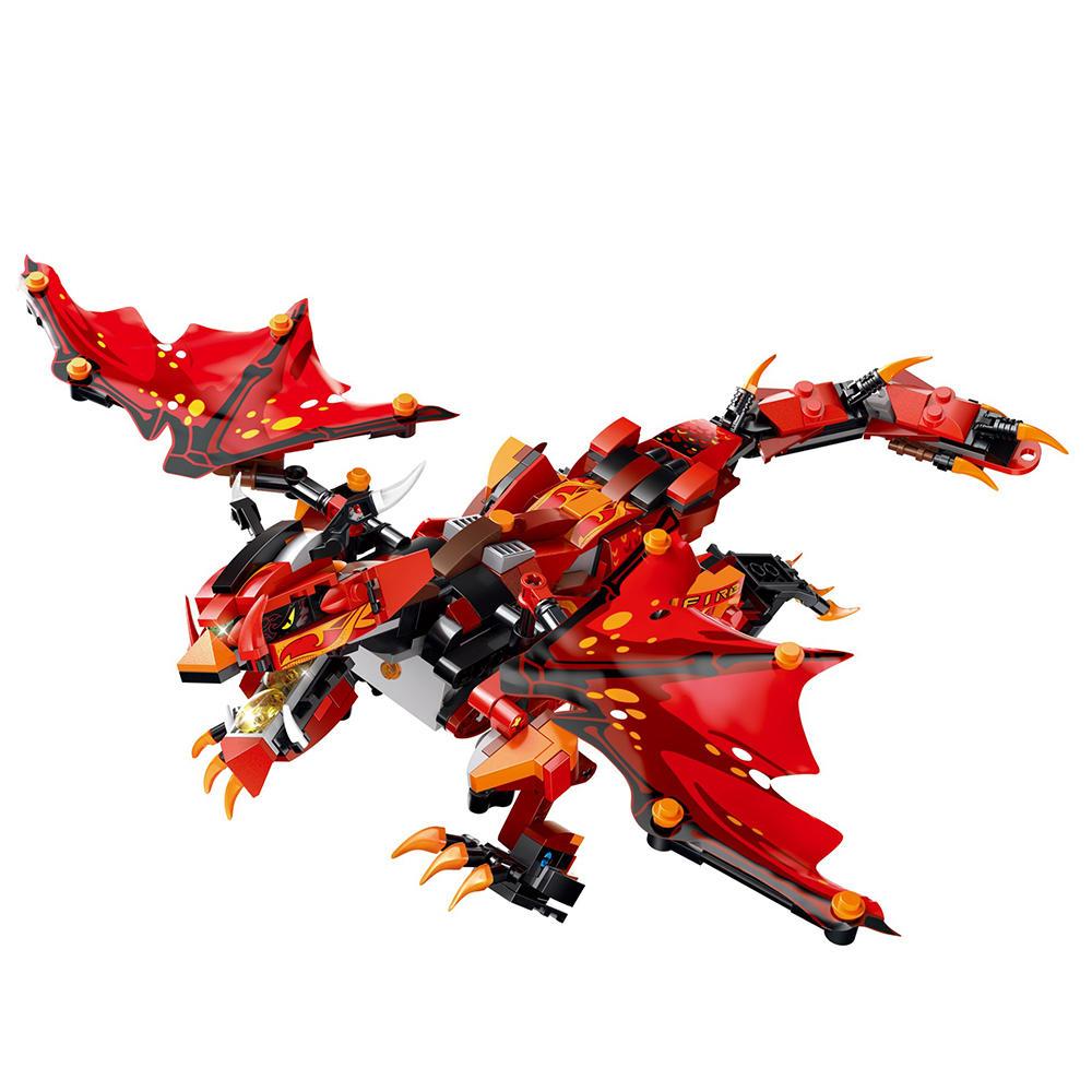 मोफुन रेड बैटल ड्रैगन 2.4 जी 4CH आरसी रोबोट इन्फ्रारेड कंट्रोल ब्लॉक बिल्डिंग असेंबल रोबोट खिलौना उ