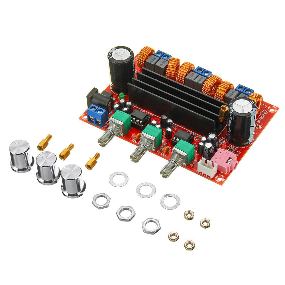 TPA3116D2 2.1デジタルオーディオアンプボードサブウーファースピーカーアンプDC12V-24V 2x50W + 100W