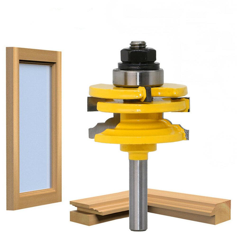 8mm Shank Glass Door Rail e Stile Reversible Router Bit Cutting Fresa per legno per utensili in legno