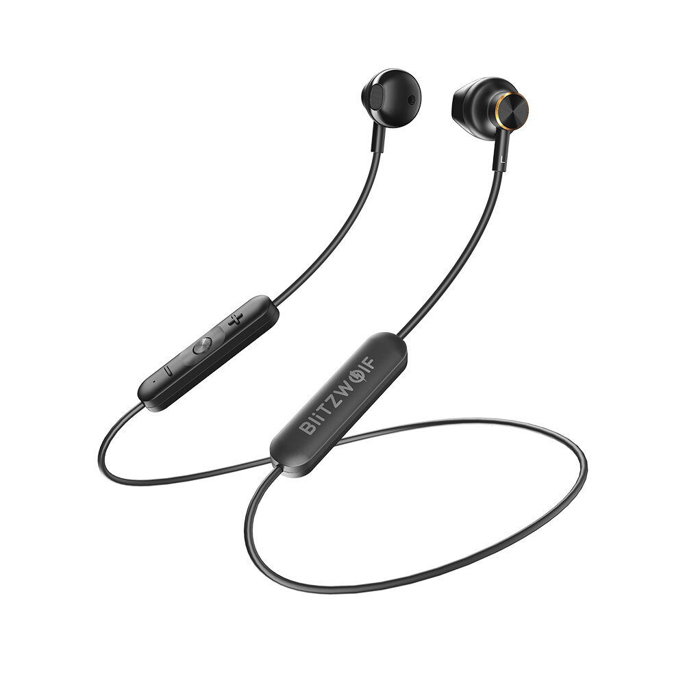 BlitzWolf® BW-BTS5 Wireless Earbuds bluetooth 5.0 Earphone HiFi Stereo AAC Magnetic Half In-ear Sports Neckband Headset Headphone with Mic