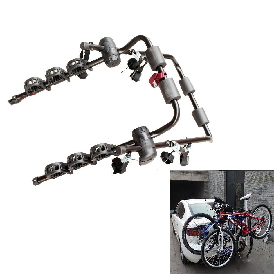 BIKIGHT SJ-531 3-Bike Trunk Mount Bicycle Carrier Rack for most Sedan SUV Hatchbacks Minivans