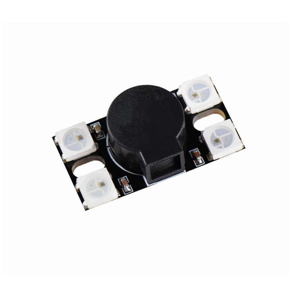 BZ110DB_WS2812 5V 110DBスーパーラウドActive RCドローンFPVレーシング用WS2812 LEDライト付きブザー