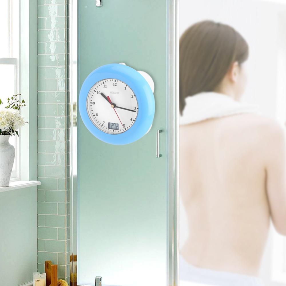 Czujnik temperatury Baldr Cyfrowy termometr Wyświetlacz ścienny Przyssawki Wiszący stół Biurko Analogowy wodoodporny zegar prysznicowy